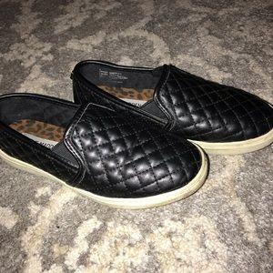 Steve Madden Black Slip Ons